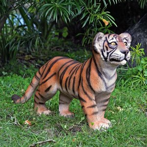 The Grand-Scale Standing Bengal Tiger Cub Statue