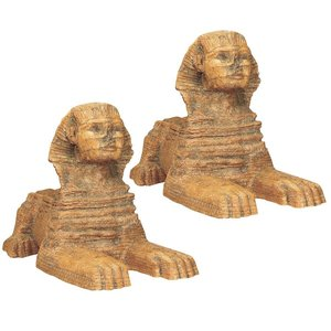 Great Sphinx Sculpture: Set of Two