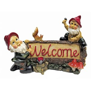 Greetings from the Garden Gnomes Welcome Statue
