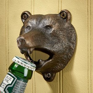 Grizzly Bear of the Woods Cast Iron Bottle Opener