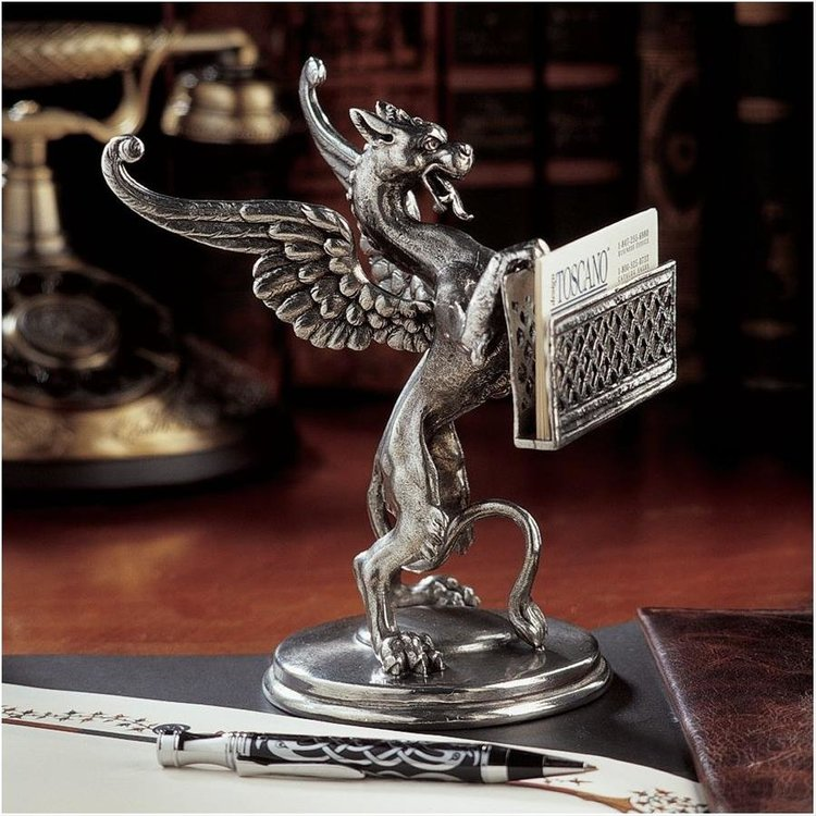 View larger image of Gryphon Solid Pewter Card Holder