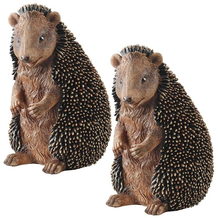 View larger image of Halsey the Hedgehog Statue - Set of Two