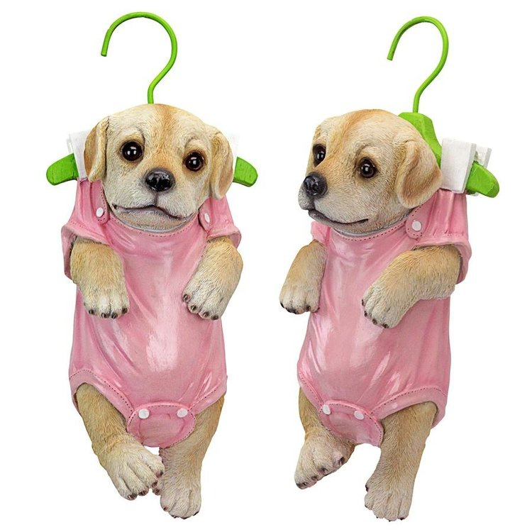 View larger image of Hanger Hound Labrador Retriever Hanging Puppy Dog Statue: Set of Two