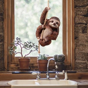 Hanging Horatio the 3-Toed Sloth Statue
