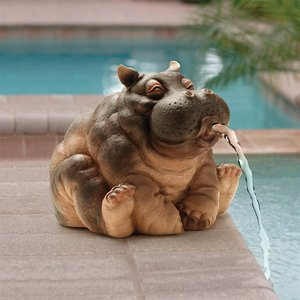Hanna, the Hippo Spitter Piped Statues