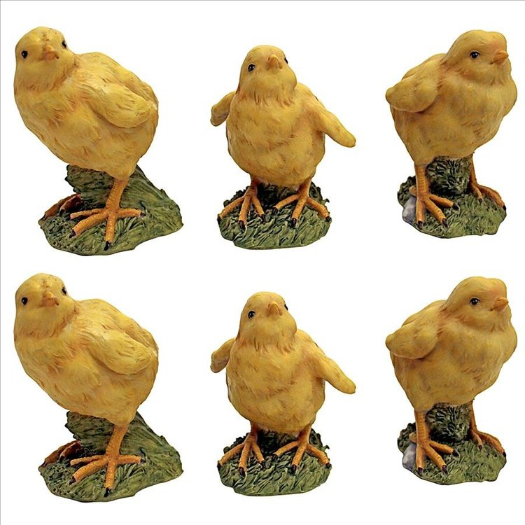 View larger image of Hatching Chicks, Set of 6 Baby Chicken Statues