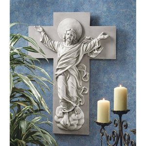 He is Risen Christ Ascension Wall Sculpture