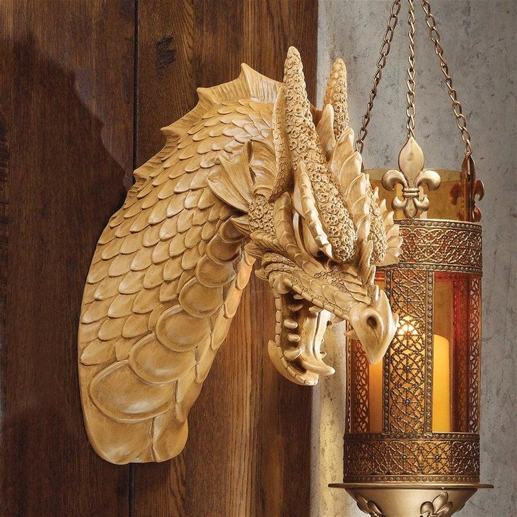 View larger image of Head of the Beast Dragon Wall Sculpture