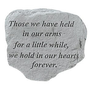Held In Our Arms: Cast Stone Memorial Garden Marker