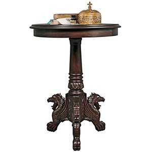 Heraldic Dragon Medieval Accent Table