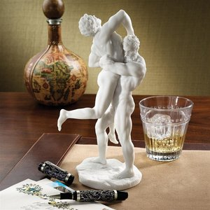 Hercules and Antaeus Bonded Marble Resin Statue by Giambologna
