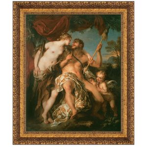 Hercules and Omphale, 1724: Canvas Replica Painting: Medium
