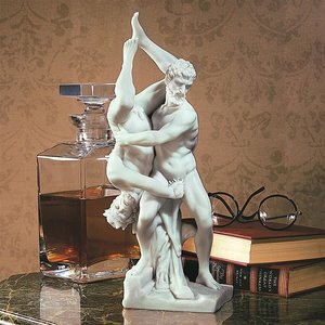 Hercules and Diomedes Bonded Marble Statue