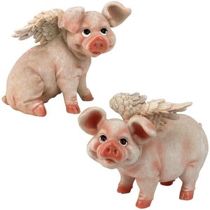 Hog Heaven Flying Pigs Statue Collection