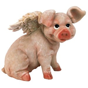Hog Heaven Flying Pigs Statue Collection: Sitting