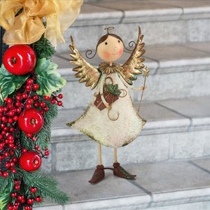 Holiday Helper Metal Angel Statue Collection: Clara