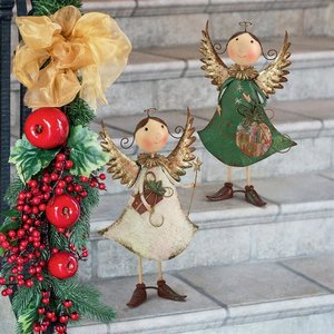Holiday Helpers Metal Angel Statue Collection