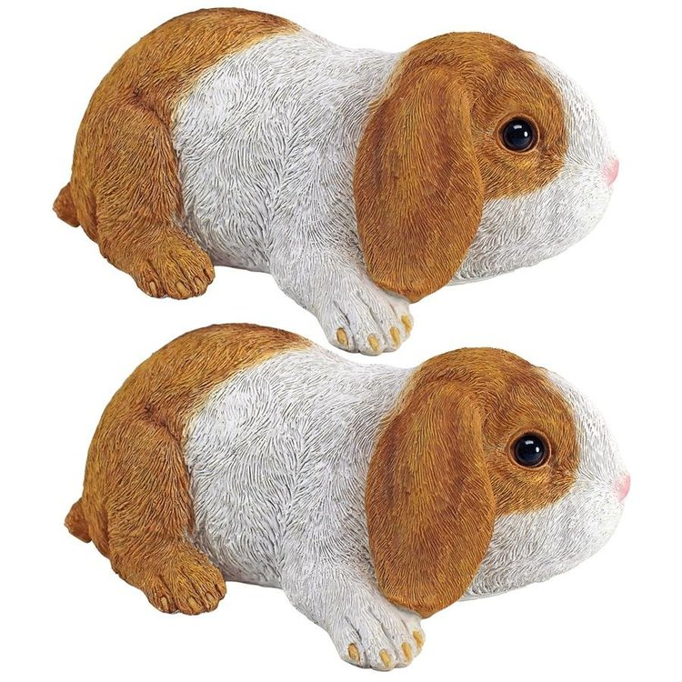 """View larger image of Holland, the Lop Eared Bunny Rabbit"""" Statues: Set of Two"""