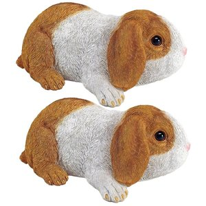 Holland, the Lop Eared Bunny Rabbit Statues: Set of Two