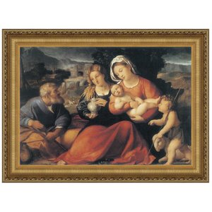 Holy Family with the Young Saint John and Mary Magdalene, 1490: Canvas Replica Painting