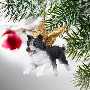 Honor the Pooch: Border Collie Holiday Dog Angel Ornament Collection