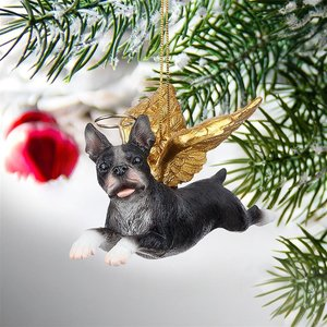 Honor the Pooch: Boston Terrier Holiday Dog Angel Ornament