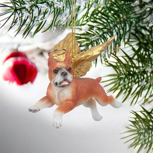 Honor the Pooch: Boxer Holiday Dog Angel Ornament