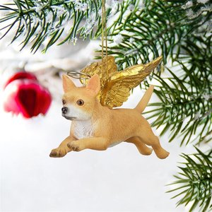 Honor the Pooch: Chihuahua Holiday Dog Angel Ornament
