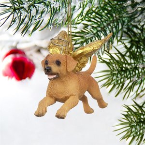 Honor the Pooch: Golden Retriever Holiday Dog Angel Ornament