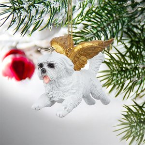Honor the Pooch: Maltese Holiday Dog Angel Ornament