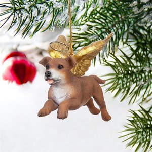 Honor the Pooch: Pit Bull Holiday Dog Angel Ornament