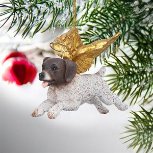 Honor the Pooch: Pointer Holiday Dog Angel Ornament