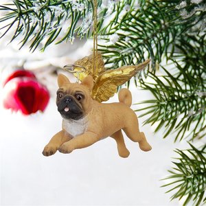 Honor the Pooch: Pug Holiday Dog Angel Ornament
