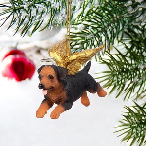 Honor the Pooch: Rottweiler Holiday Dog Angel Ornament