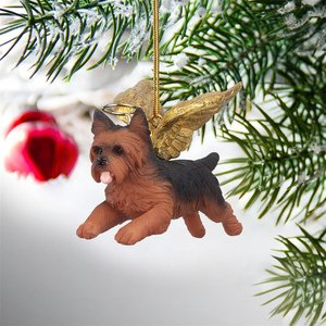 Honor the Pooch: Yorkie Holiday Dog Angel Ornament