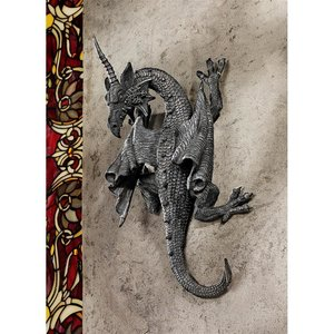 Horned Dragon of Devonshire Wall Sculptures