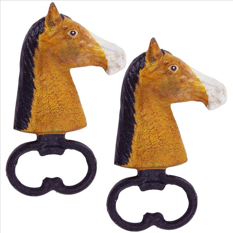 View larger image of Horse Head Cast Iron Bottle Opener: Set of Two
