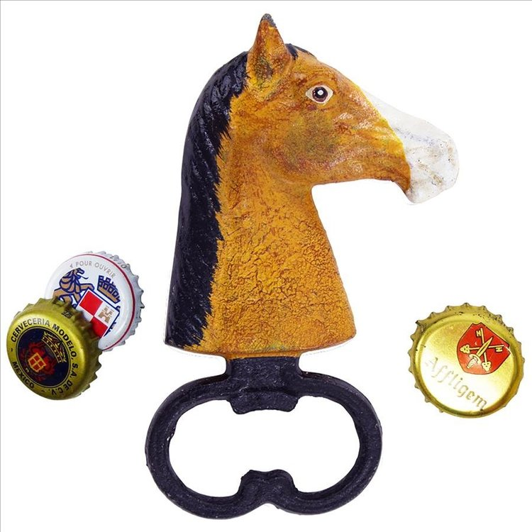 View larger image of Horse Head Cast Iron Bottle Opener
