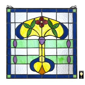 Horta Tiffany-Style Stained Glass Window