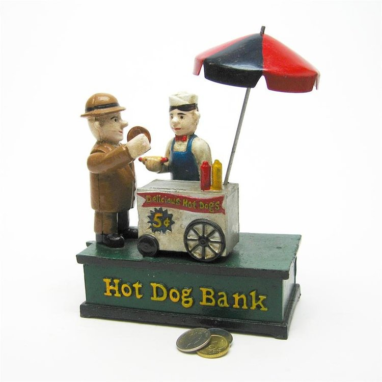 View larger image of Hot Dog Collectors' Die Cast Iron Mechanical Coin Bank