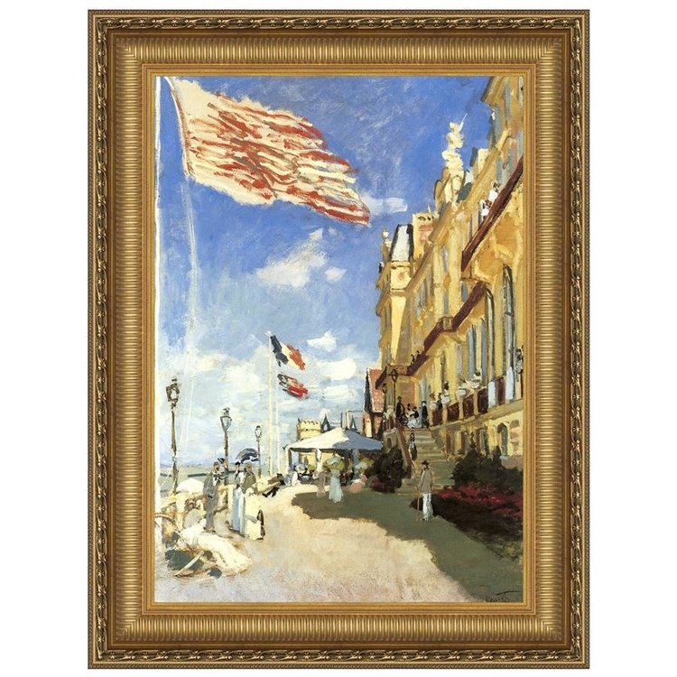 View larger image of Hotel des Roches Noires, Trouville, 1870: Canvas Replica Painting