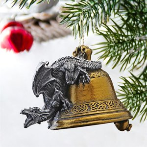 Humdinger the Bell Ringer Gothic Dragon Holiday Ornaments