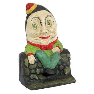 Humpty Dumpty Still Action Die-Cast Iron Coin Bank