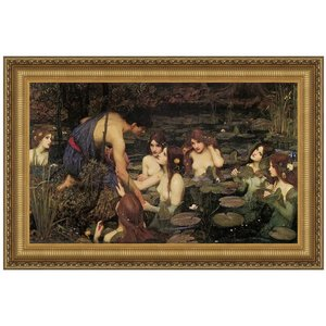 Hylas and the Nymphs, 1896: Canvas Replica Painting: Medium