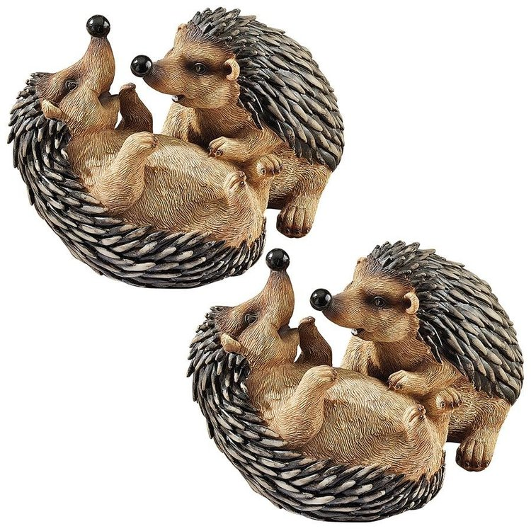View larger image of Hyper Hedgehogs Garden Statues: Set of Two