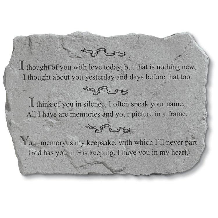 View larger image of I Thought of You Cast Stone Pet Memorial Statue