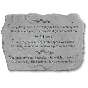 I Thought of You Cast Stone Pet Memorial Statue