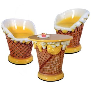 Ice Cream Parlor Table and Chairs Collection
