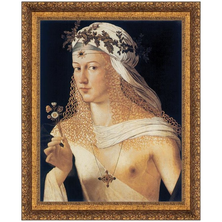 View larger image of Idealized Portrait of a Courtesan as Flora, Goddess of Spring, 1506: Canvas Replica Painting