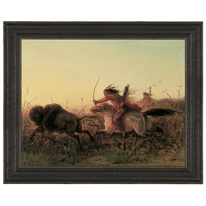Indian Buffalo Hunt, 1856: Canvas Replica Painting: Large